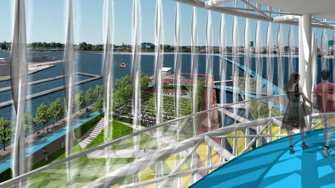 Waterfront Park Urban Planning Copenhagen Denmark Competition