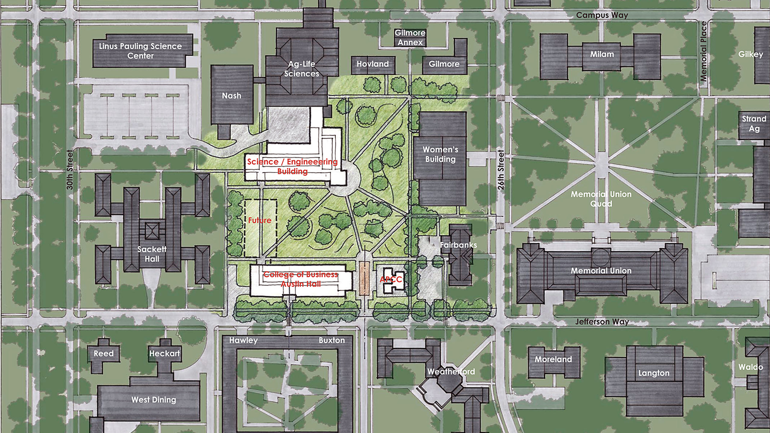 Women's Field Quad, College of Business Planning Study at Oregon State University / image 5