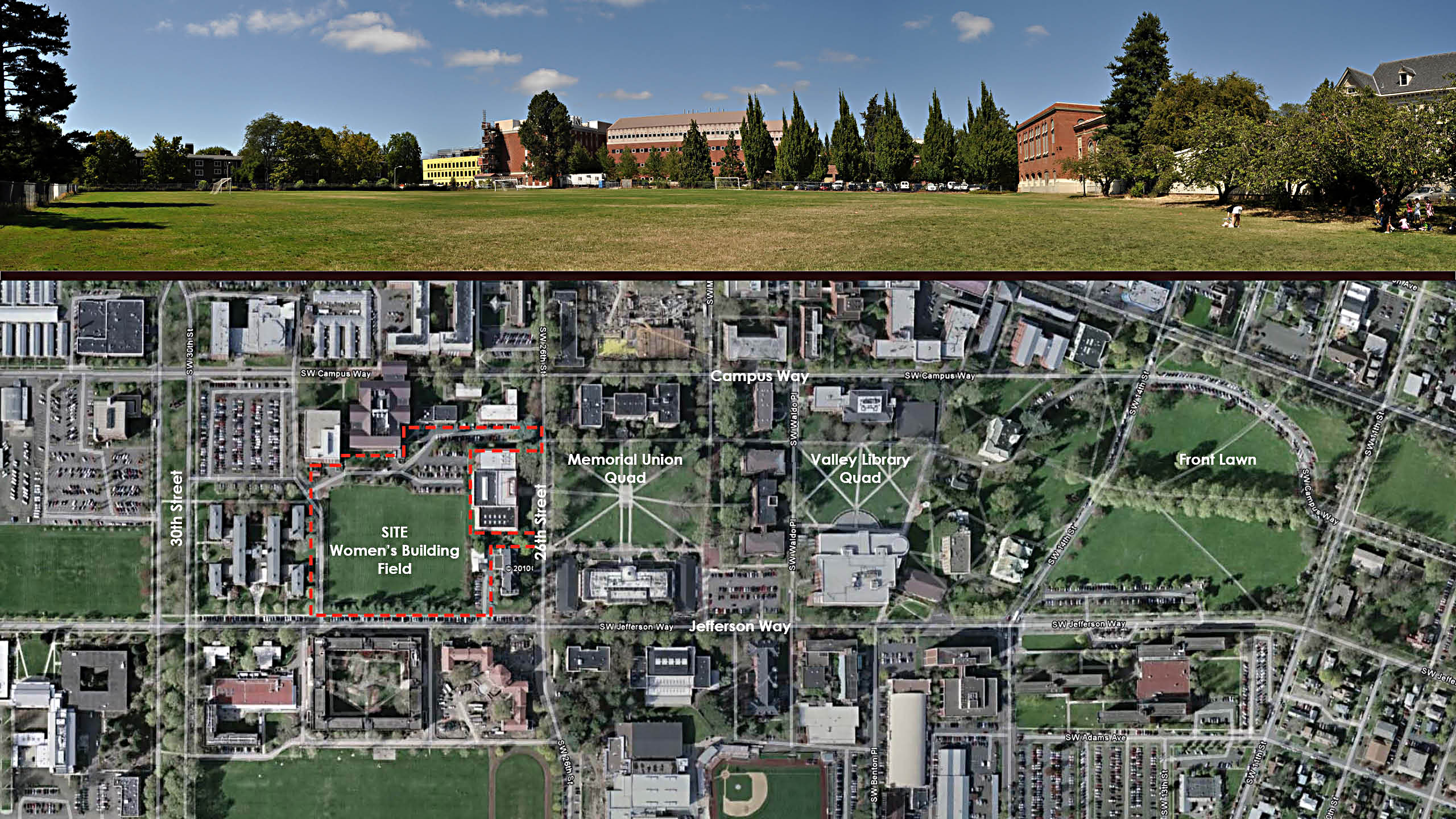 Women's Field Quad, College of Business Planning Study at Oregon State University / image 1